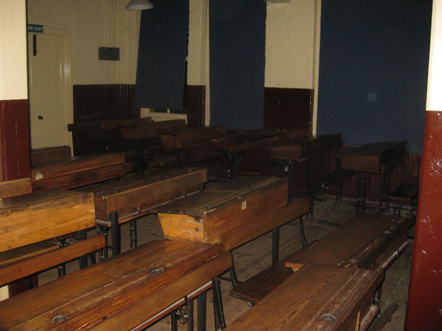 The Victorian classroom.
