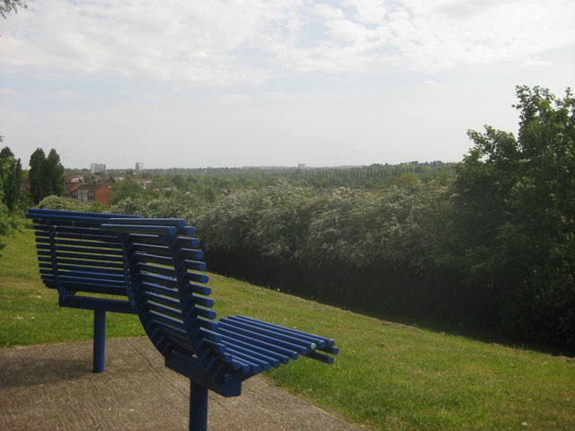 The view from the top of Barnet Hill, looking out towards Finchley.