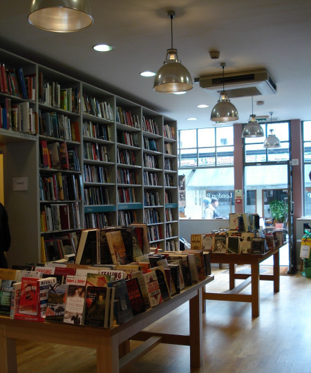 The lovely, if a bit Swedish-furniturey, ground floor of the LRB