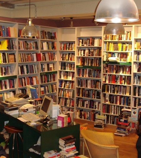 The LRB's basement. Note comfy sofa