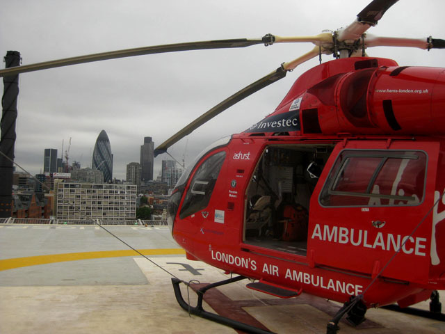 View of the City from the helipad. Image by M@