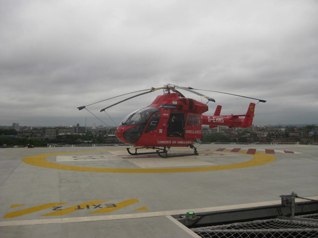 Chopper on pad. Image by M@