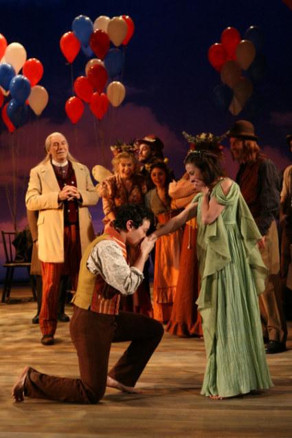 Florizel (Michael Braun) proposes to Perdita (Morven Christie)