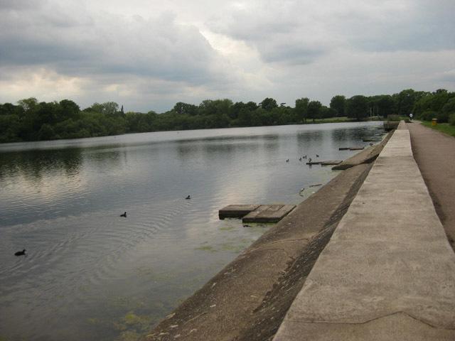 Aldenham Reservoir. Built by the French.