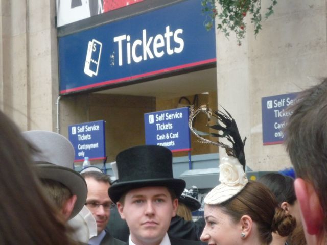 Top hats and tickets.