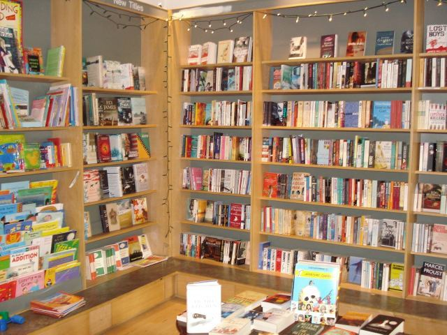 Fiction and children's sections. Aww, fairy lights