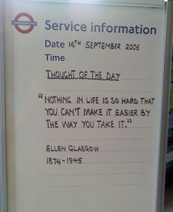 Be Inspired On The Piccadilly Line