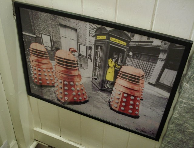 Marchpane: someone really likes Doctor Who in this shop...