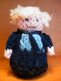 knitted Boris Johnson
