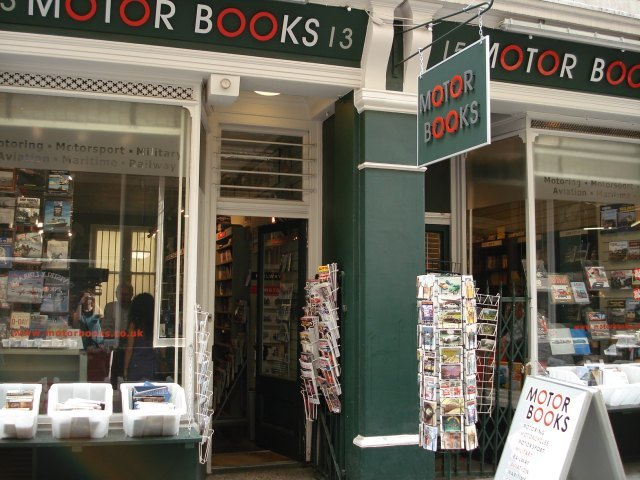 Motor Books in all its double fronted splendour