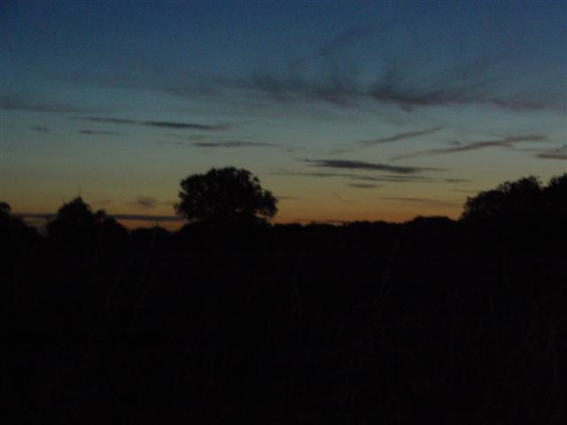 Riding through Essex as the sun sets...