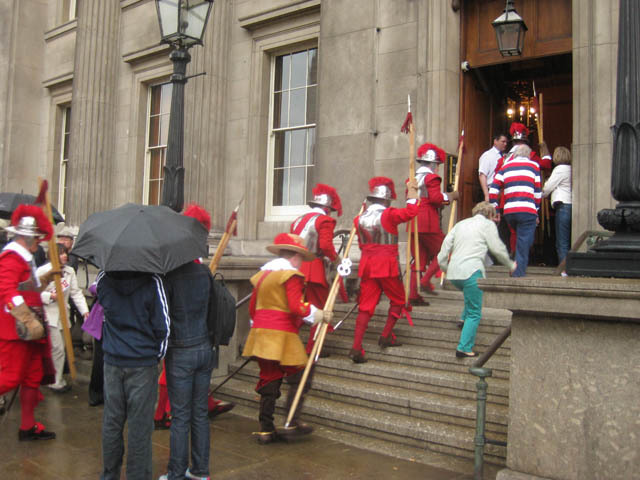 As the rain lashes down, the pikemen move inside. Bunch of sissies. No, we didn't say that to their faces.