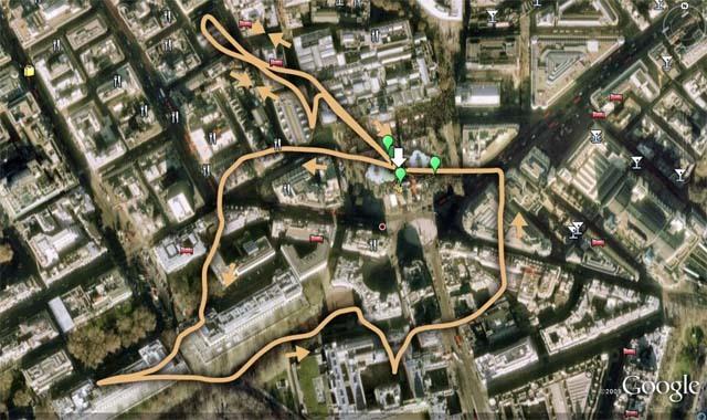 Apollo Moon Maps Superimposed On London