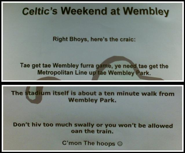 Photo Of The Day: Celtic Travel Advice At Kings Cross
