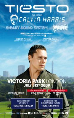 Win Tiësto @ Victoria Park Tickets