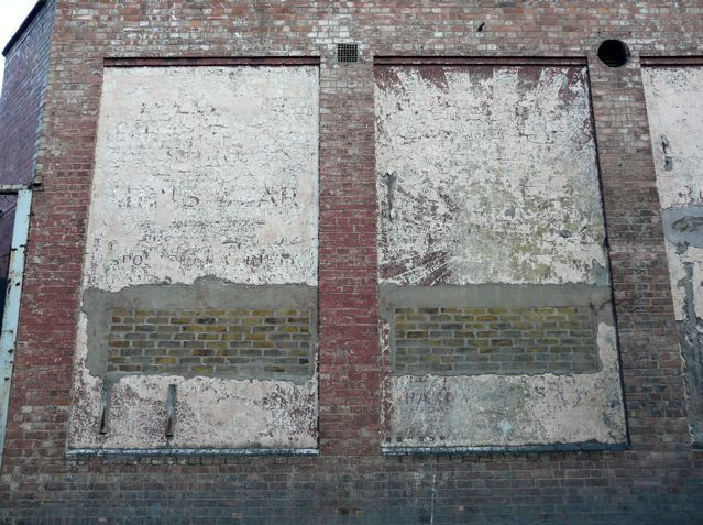 Ghost sign for Our Sons Menswear, Brixton