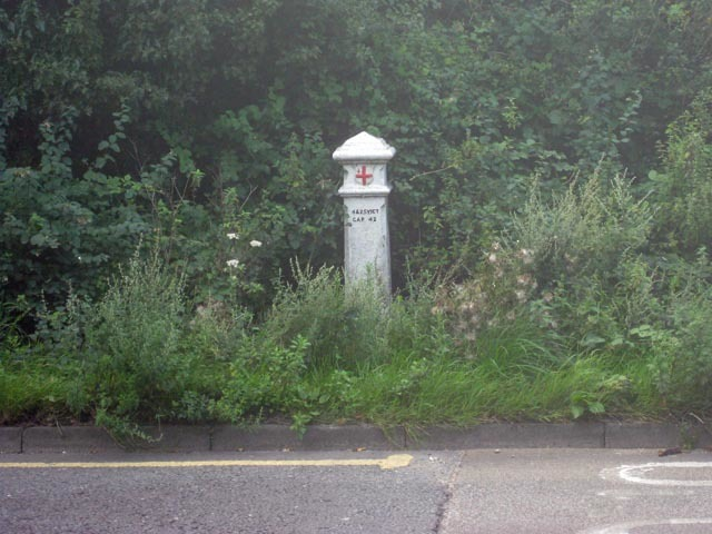 This bollard marks the boundary beyond which residents would pay duty on coal.