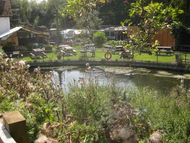 Alongside Denham Lock, you'll find Fran's tea gardens, perhaps the most idyllic spot in the kingdom.