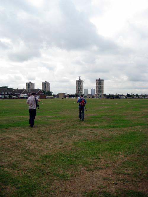 Durants Park, Enfield, heading towards the 4 colour coded high rises