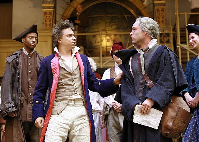 James Garnon as Danton and John Light as Thomas Paine. Kudos to Garnon for his powerful, revolutionary French Photo by John Haynes