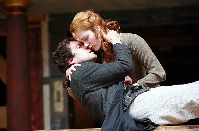 Paine (John Light) and Martha (Laura Rogers) share a more tender moment Photo by John Haynes