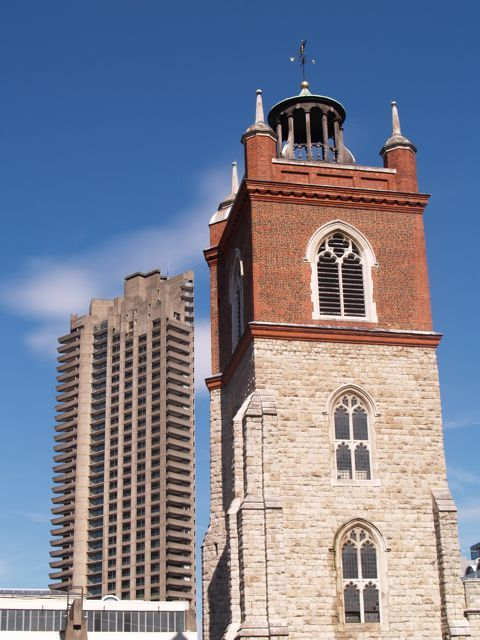 St Giles Cripplegate church & Barbican Centre Jamesu