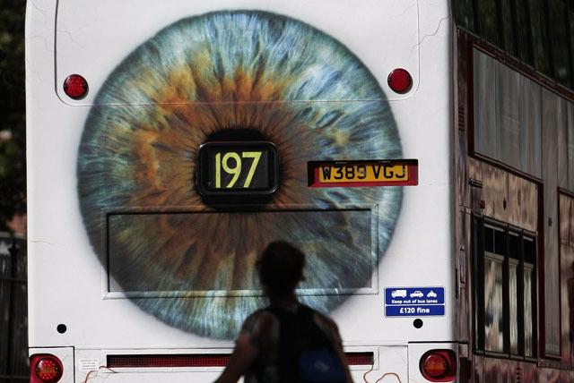 TfL Pastes Giant Eyes Onto Buses