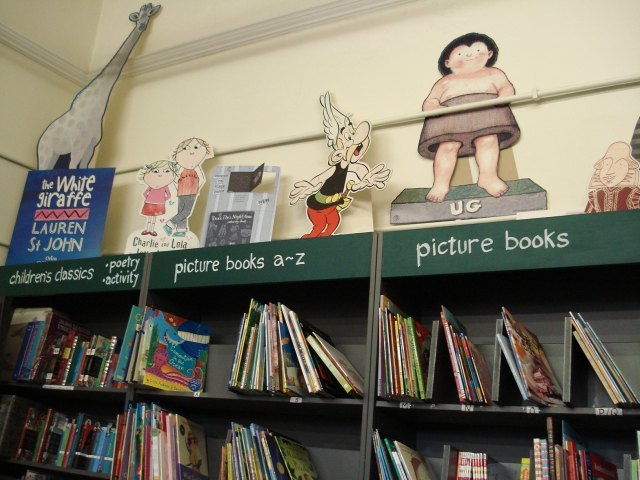 Keeping watch over the children's section