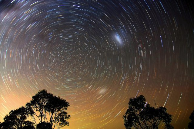 Star Trails Blue Mountains by Ted Dobosz winner of Earth and Space