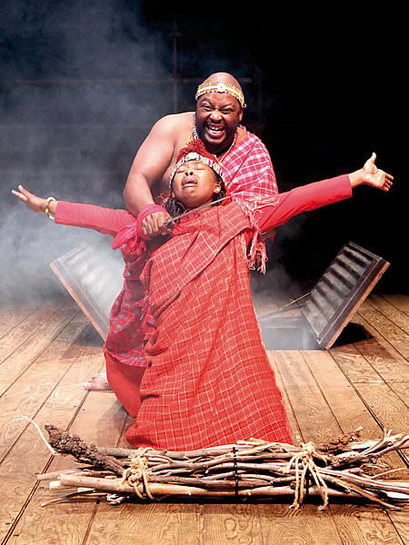 Luthando Mthi (Abraham) and Bongiwe Mapassa (Isaac).  Photo by Ruphin Coudyzer FPPSA
