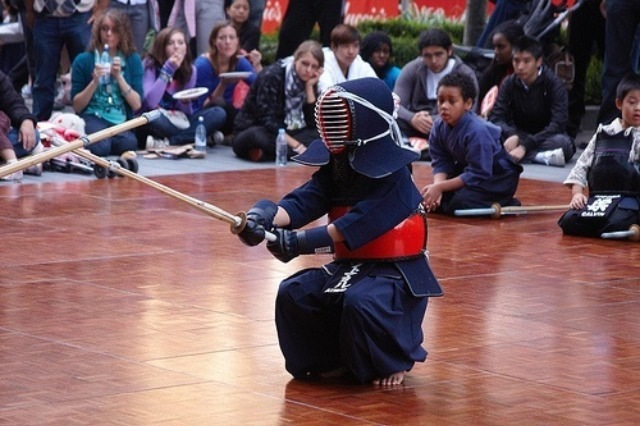 A kendo demonstration, image by Luke Robinson