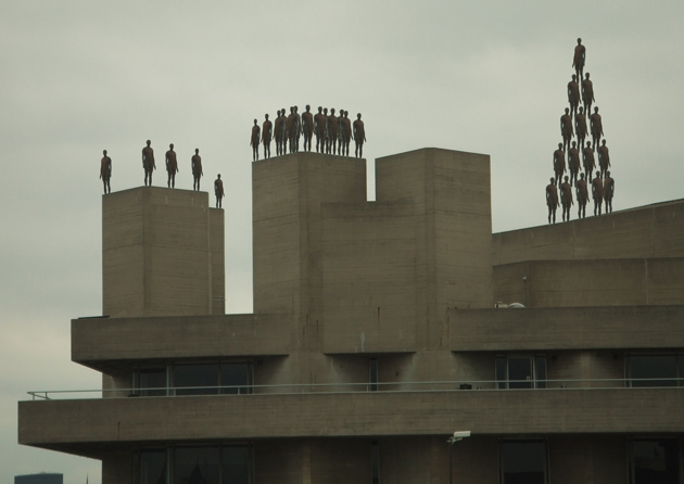 Antony Gormley gets a bit carried away on the South Bank.