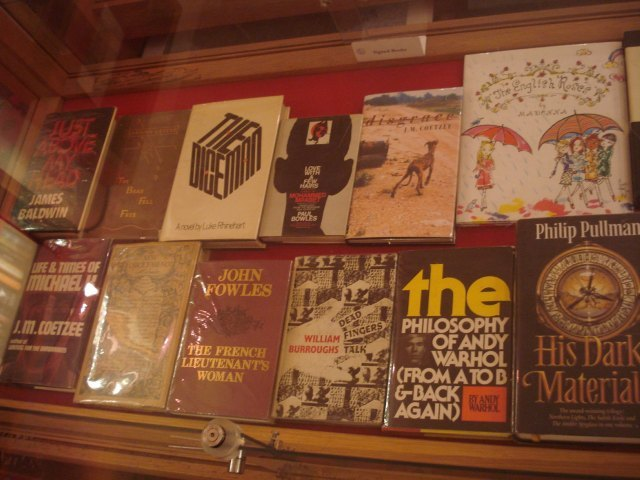 All these modern classics are signed. Yup, that's Pullman, Coetzee, Warhol and Burroughs