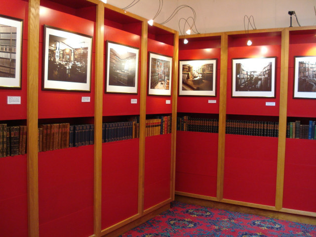 The splendidly red Biblion gallery