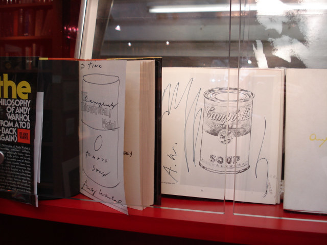 Art books, scribbled on by Andy Warhol