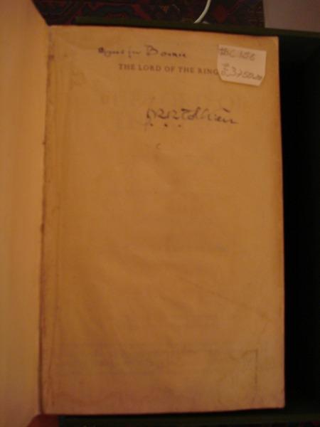 JRR Tolkien's signature
