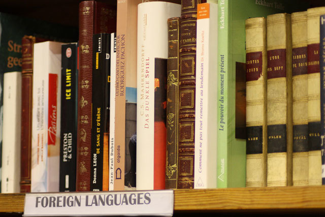 Selection of foreign language books (mostly German, French and Spanish)