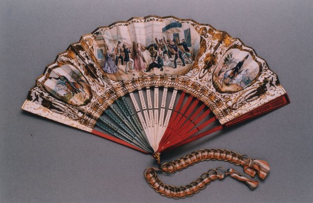 "Fan commemorating the ""Five Days of Milan� from 18 to 22 March 1848 and the Unification of Italy"