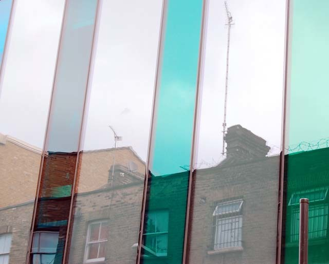 Aerial reflections in the Ideas Store exterior, Whitechapel Team Londonistas