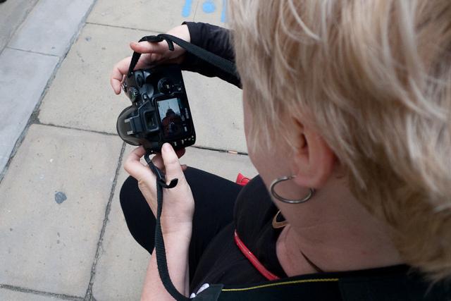 Checking the shots  Dean Nicholas