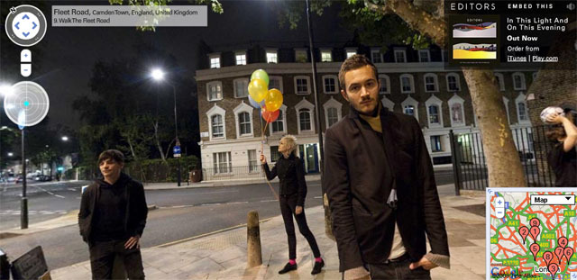 Editors New Album Available In Google Street View London Mashup