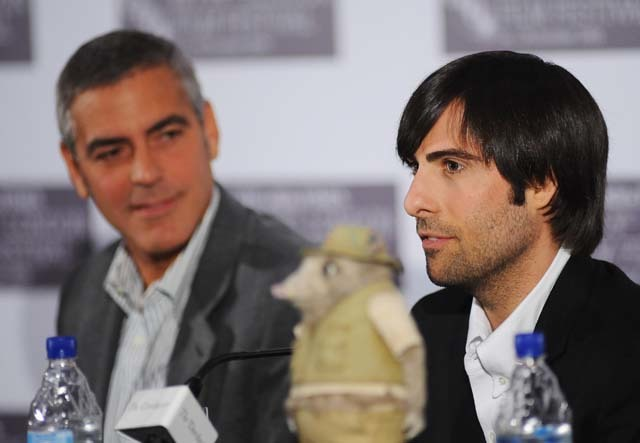 George Clooney and Jason Schwartzman at the Fantastic Mr Fox press conference