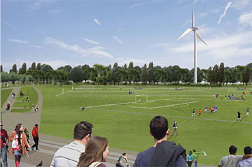 Wind Turbine For Hackney Marshes