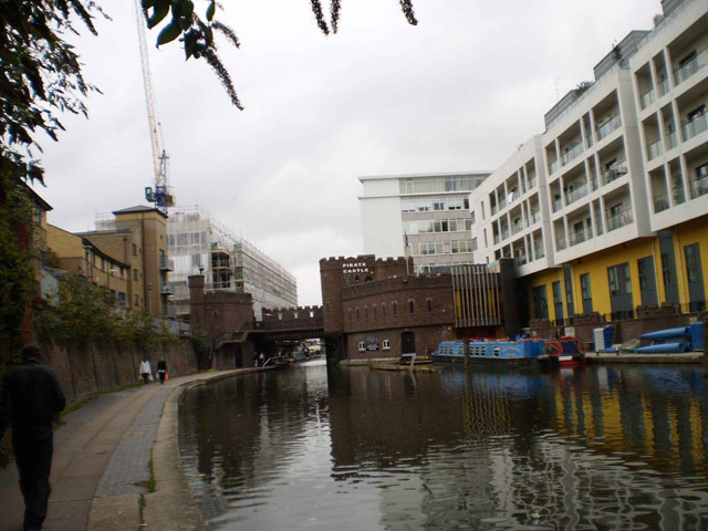Approaching Camden Town we see ahead the Pirate's Castle youth centre, designed by Colonel Richard Seifert (the same architect behind Tower 42 and Centrepoint).