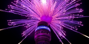 In Pictures: BT Tower Fireworks Mark 1,000 Days To Go To The Olympics