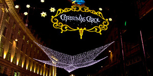 Christmas Carol Lights Switched On