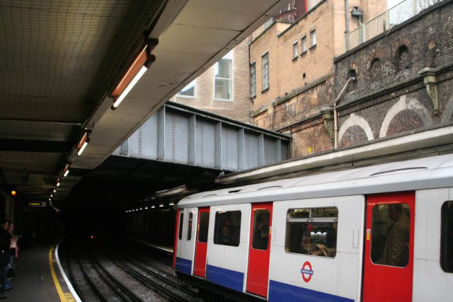 A close up of the Westbourne conduit at Sloane Square.
