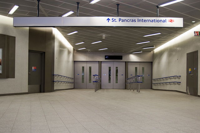 Sub-level route to St Pancras