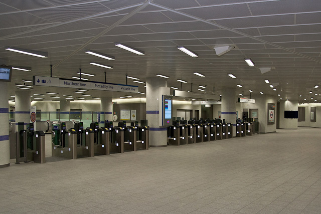 The ticket hall