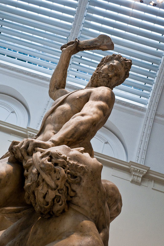 Samson slaying a Philistine, by Giambologna, Italy (Florence), 1560-2
